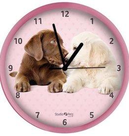 Labrador Hond Roze Klok