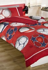 Kidz Football Red Double Duvet Cover