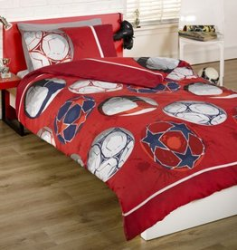 Kidz Voetbal Red Double Duvet Cover