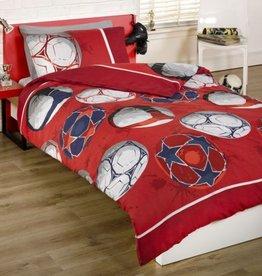 Kidz Voetbal Red Double Duvet Cover