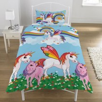 Carbotex Girl & Unicorn Duvet Cover Set