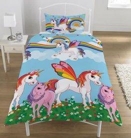 Regenboog Unicorn Dekbedovertrek