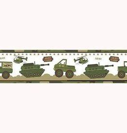 Blije Kidz Camouflage Legerkamp Behangrand