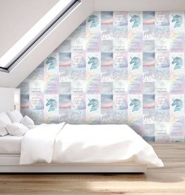 Arthouse Believe in Unicorns Glitter Behang