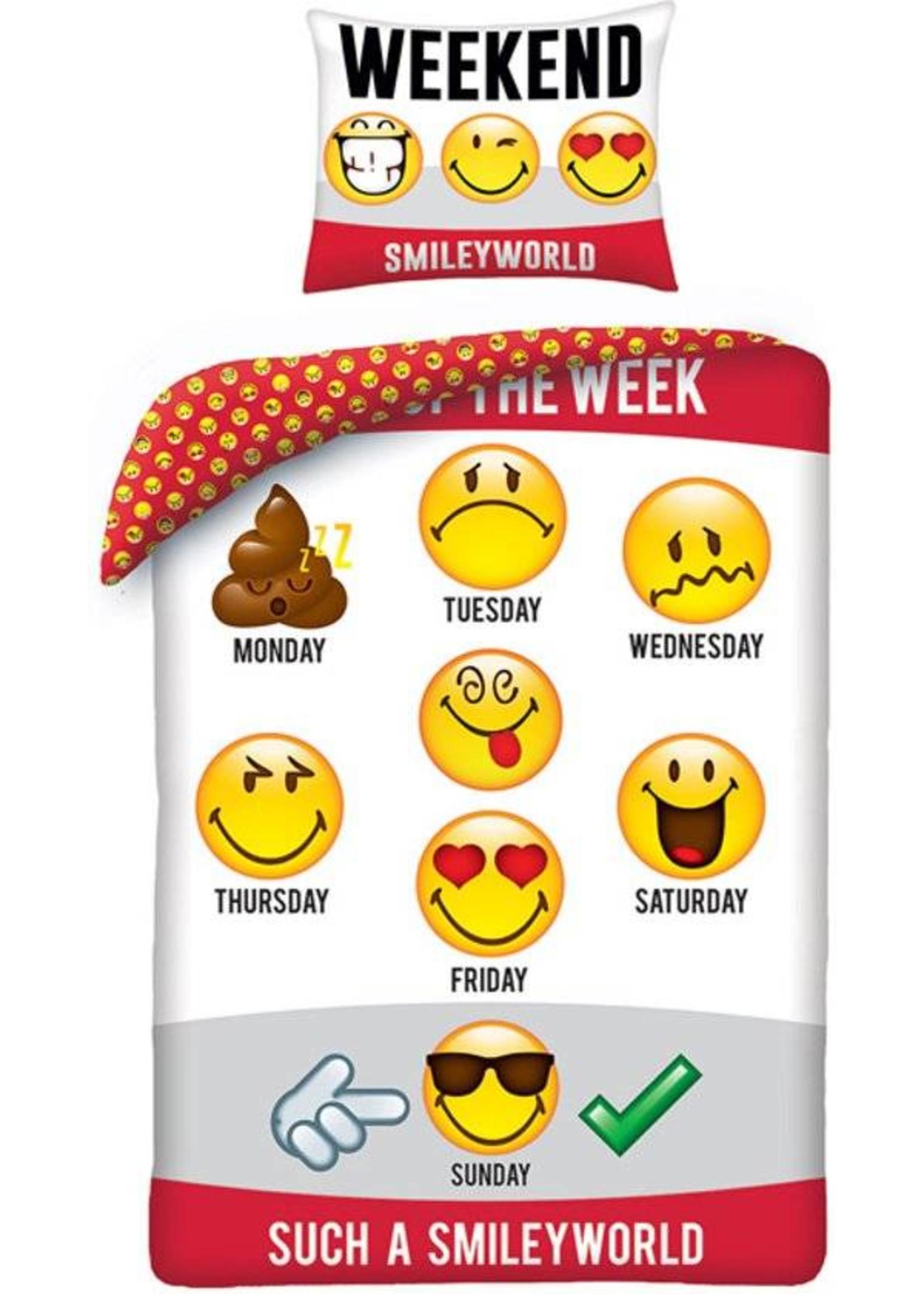 Emoji Smiley Days Dekbedovertrek