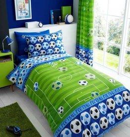 Voetbal Goal Dekbedovertrek Blauw