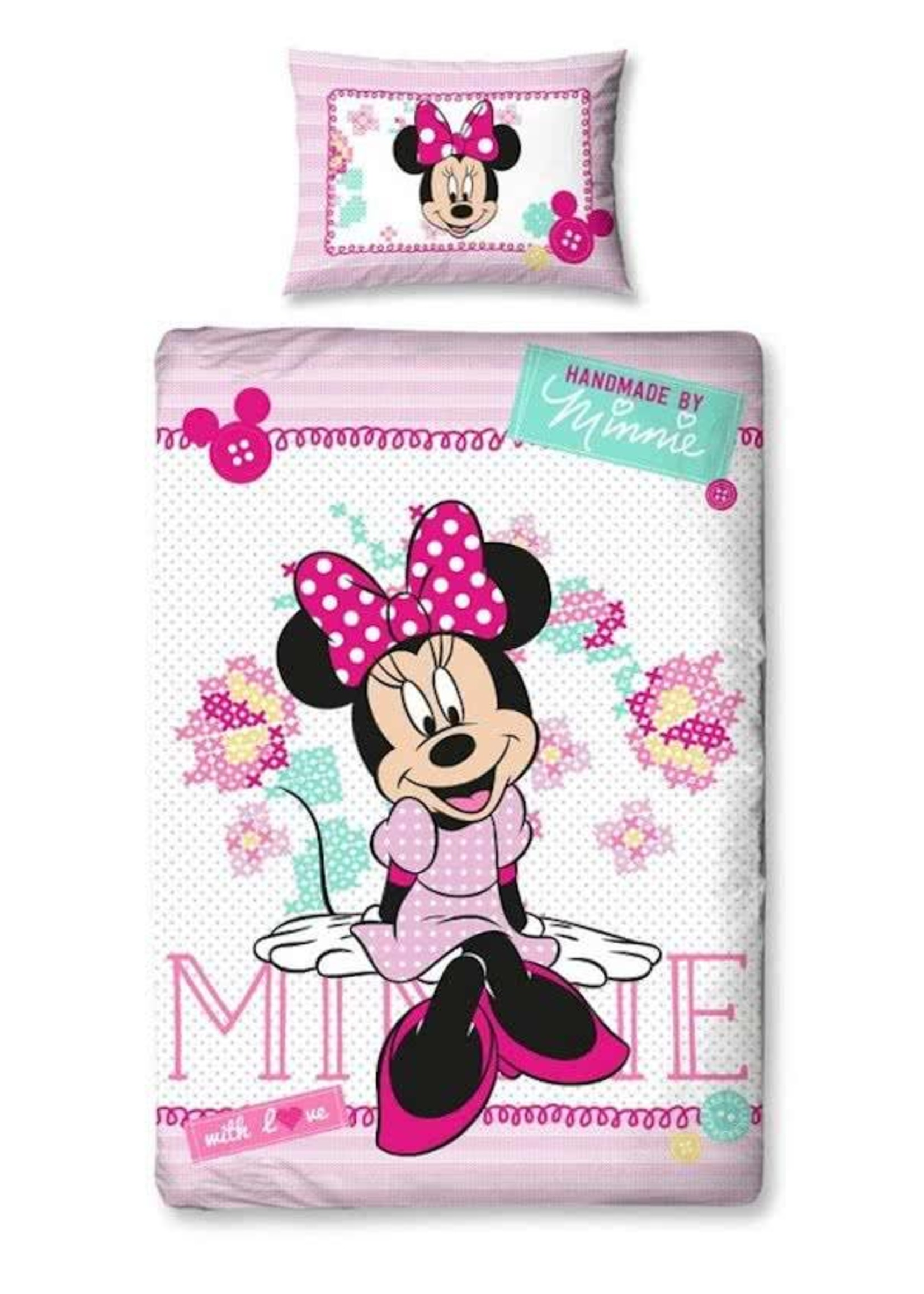 Disney Minnie Mouse Dekbedovertrek Handmade with Love