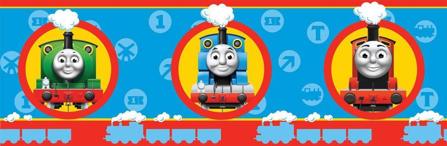 Thomas de Trein Fisher Price Thomas de Trein Behangrand The Tank Engine