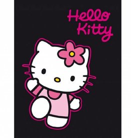 Sanrio  Hello Kitty Fleece Deken Zwart