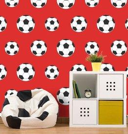 Voetbal Behang Rood