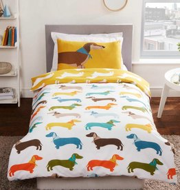CharactersMania Sausage Dog Duvet Cover Set