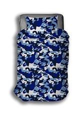 CharactersMania Camouflage Double Duvet Cover Set Blue