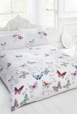 Mariposa Vlinders & Bladeren Dekbedovertrek Wit