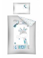 Giraf Dekbedovertrek Junior Grijs/Blauw