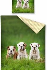 Bulldog eenpersoons dekbedovertrek 140 x 200 cm