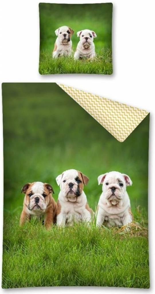 CharactersMania Bulldog Dekbedovertrek Pups