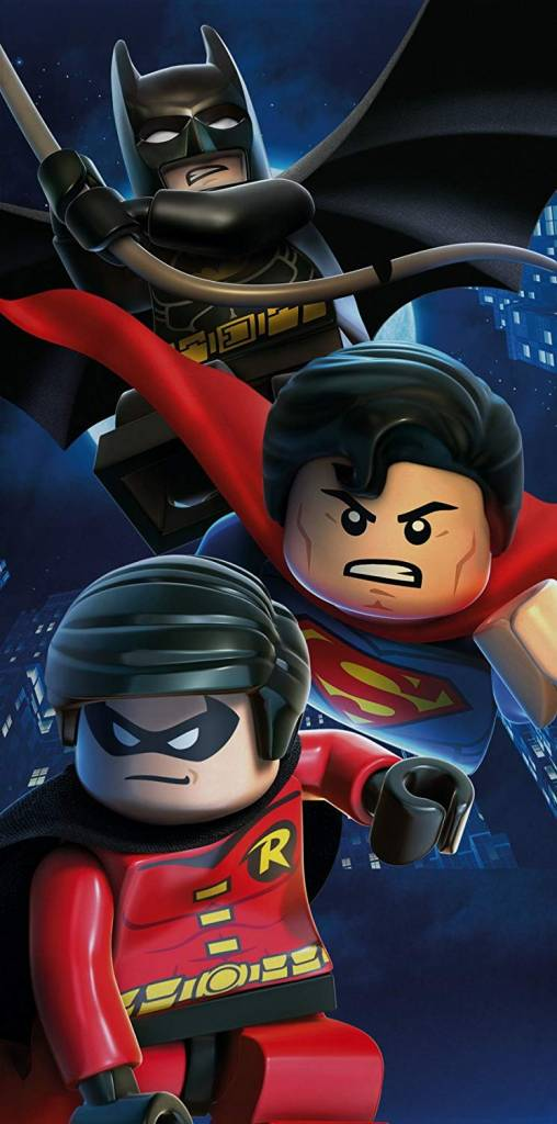 Lego DC Superheroes Battle Cotton Beach Bath Towel Batman Superman Robin