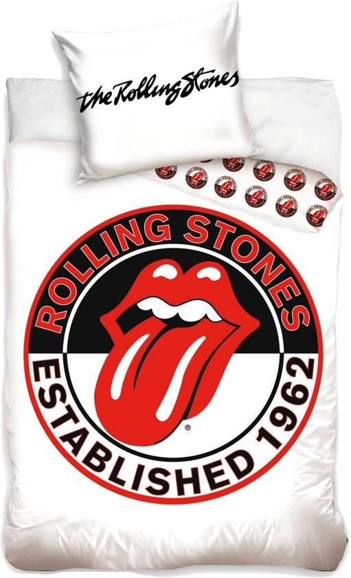 Dekbedovertrek Rolling Stones Wit 140x200