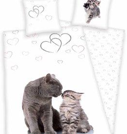 Kat Dekbedovertrek Poes Katten