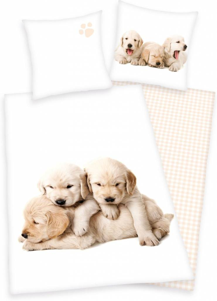 Hond Dekbedovertrek Pup 140x200 70x90