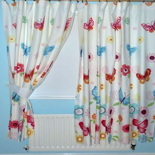 Vlinders Gordijn 2 stuks x 170cm breed x 182 cm lang