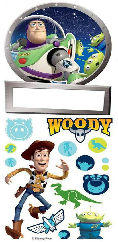 Disney Pixar Toy Story Sticker DeurNaam Stickers