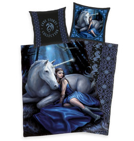 Anne Stokes Dekbedovertrek 140x200 70x90 Katoen Unicorn