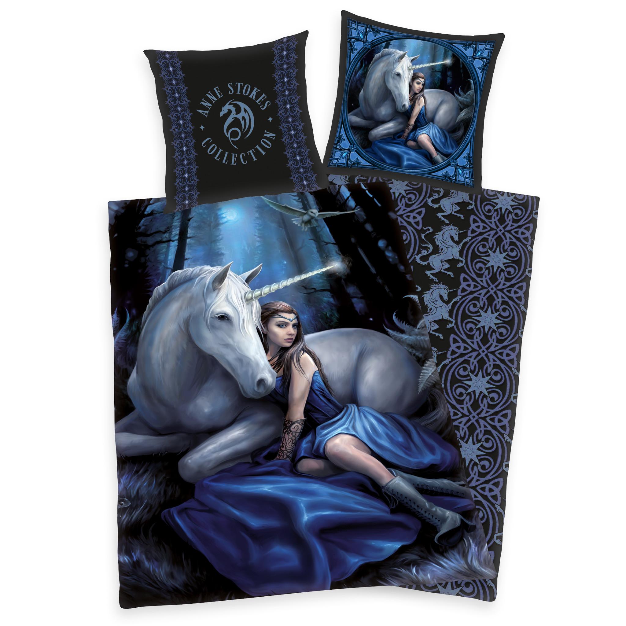 Herding Anne Stokes Duvet Cover Set Unicorn