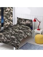 Topstyle Camouflage Dekbedovertrek Zwart