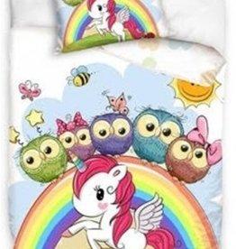 Owls Unicorn Duvet Cover Set
