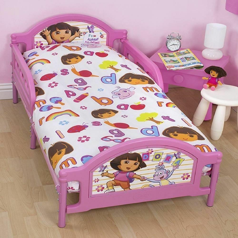 Nickelodeon Dora Junior Dekbedovertrek Alfabet 4in1