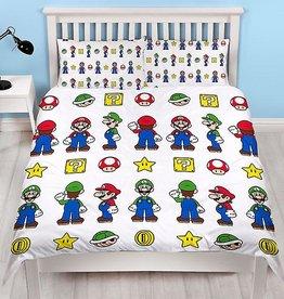 Nintendo Super Mario Tweepersoons Dekbedovertrek