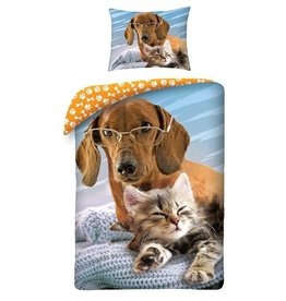 Halantex Sausage Dog  & Cat Duvet Cover Set