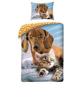 Teckel Hond & Kat Dekbedovertrek