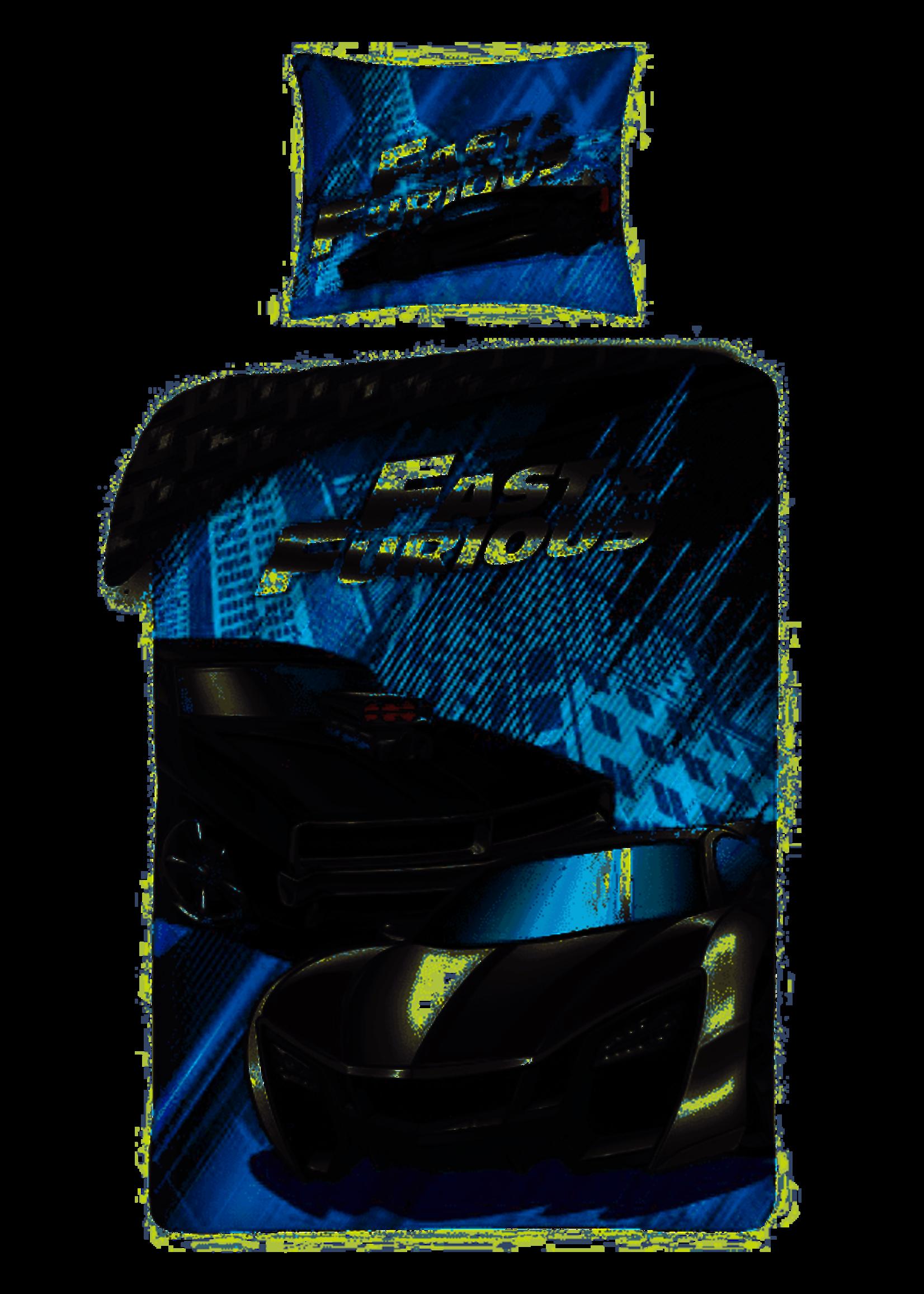 Fast & Furious Dekbedovertrek Blauw