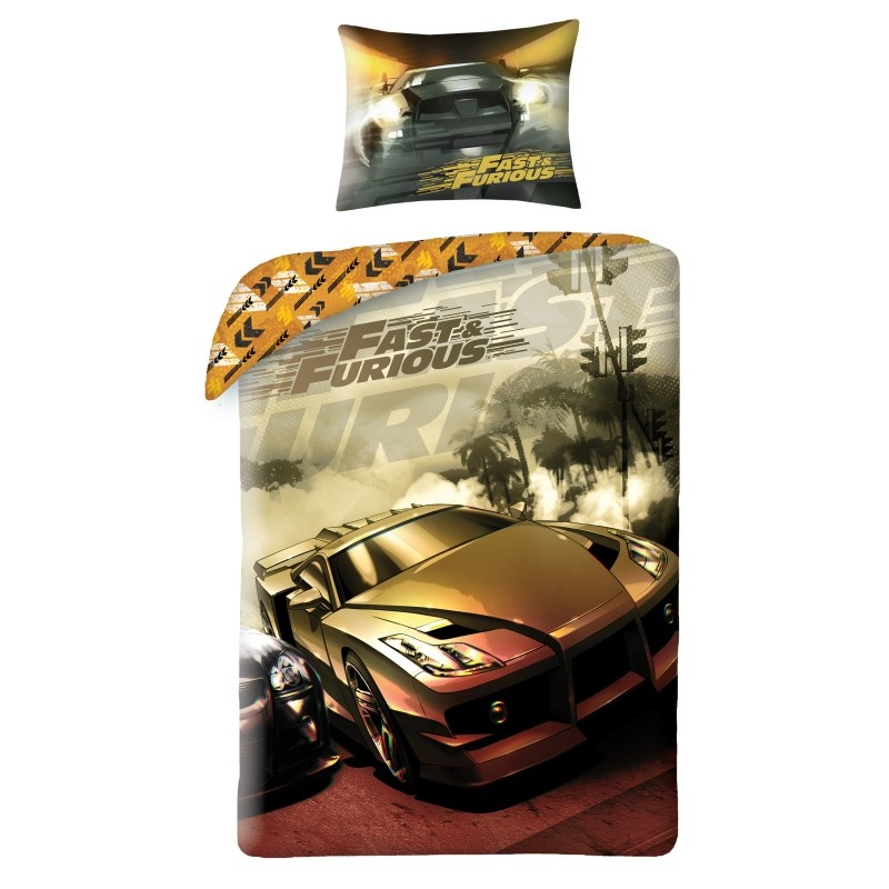 Fast Furious Fast & Furious Dekbedovertrek Eenpersoons 140 x 200 cm