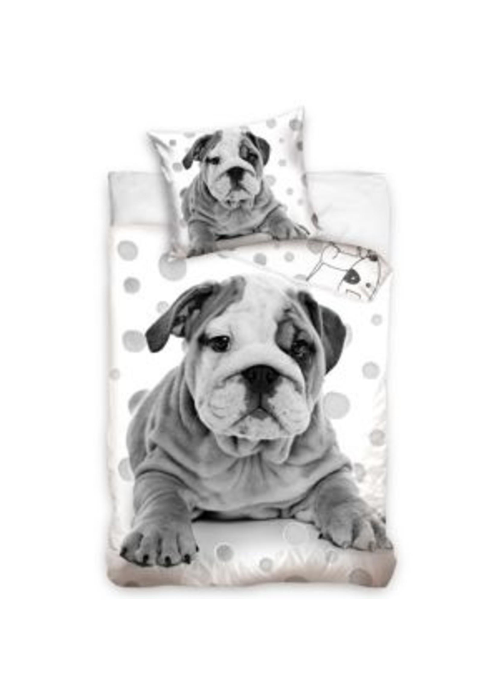 Bulldog Dekbedovertrek Hond Stippen