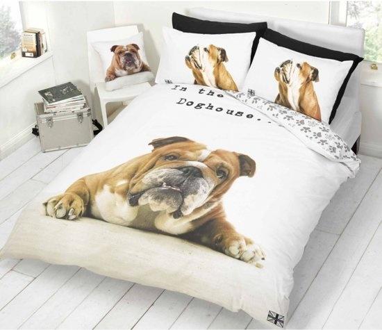 CharactersMania Bulldog Dekbedovertrek Hond