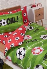 Voetbal Rood Junior Dekbedovertrek Offside