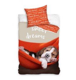 Hond Puppy Dekbedovertrek Sweet Dreams