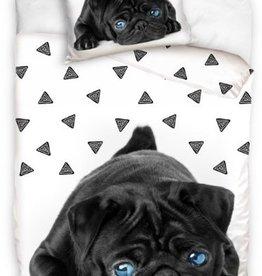 Pug Duvet Cover Blue Eyes