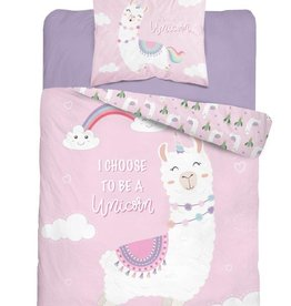 CharactersMania Lama Duvet Cover set I choose to be a unicorn