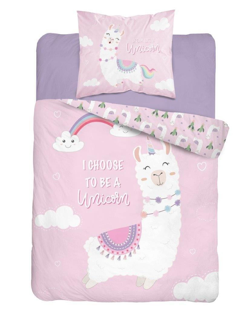 Lotte & Julius Lama Duvet Cover set I choose to be a unicorn