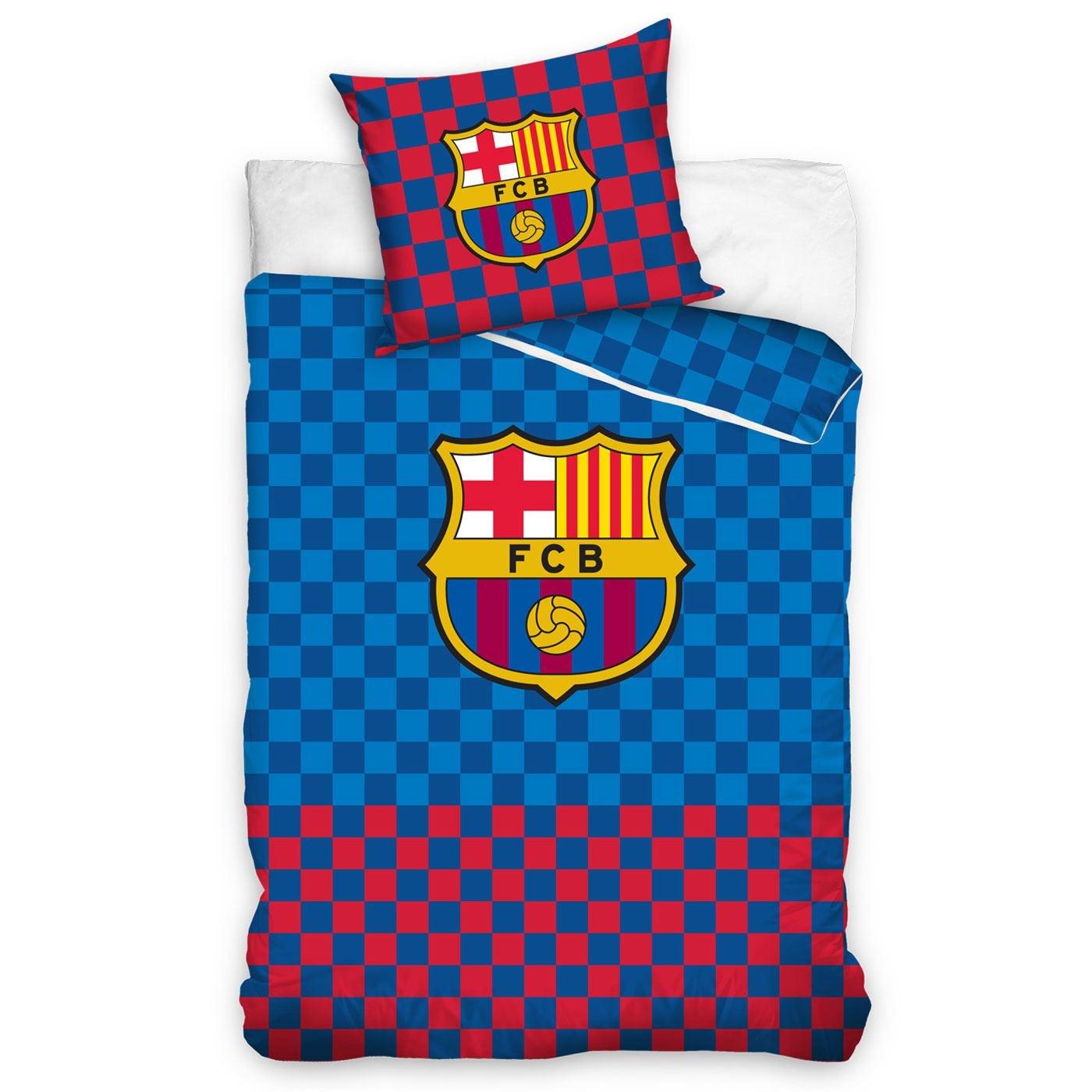 FC Barcelona FC Barcelona Dekbedovertrek Geruit