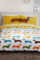 Sausage Dog Double Duvet Cover Set
