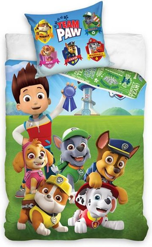 Nickelodeon Paw Patrol  Paw Patrol Dekbedovertrek Team Paw