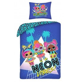 L.O.L. Surprise Dekbedovertrek Neon