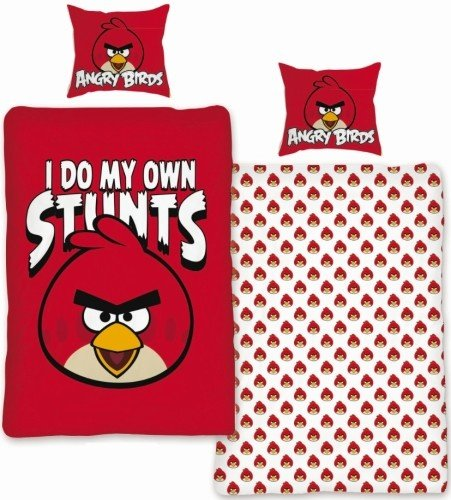Angry Birds Dekbedovertrek 140x200 Katoen AB01016Stunt