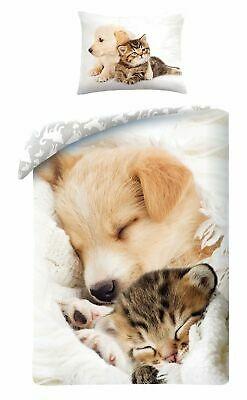 Animal Pictures Puppy Hond Poesje Kat Dekbedovertrek