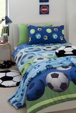 Catharine Lansfield Voetbal Dekbedovertrek Blauw